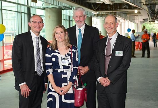 Bryce Gartland (EUH CEO), Carla Chandler (EUH CFO), Bob Bachman (executive director, EUH expansion), Bill Bornstein (chief medical officer, Emory  Healthcare)